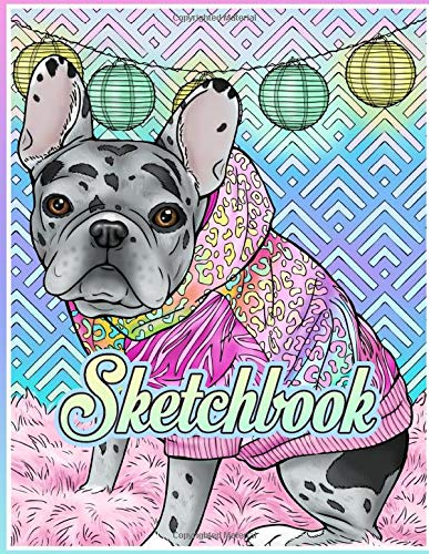 Merle French Bulldog RORY Sketchbook: 150 Pages