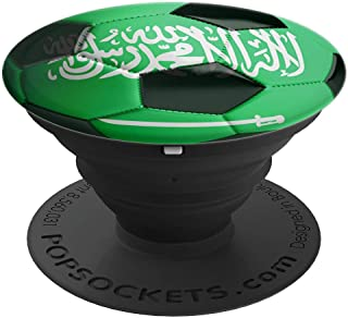 Saudi Arabia Flag Football Soccer Ball  PopSockets Grip and Stand for Phones and Tablets