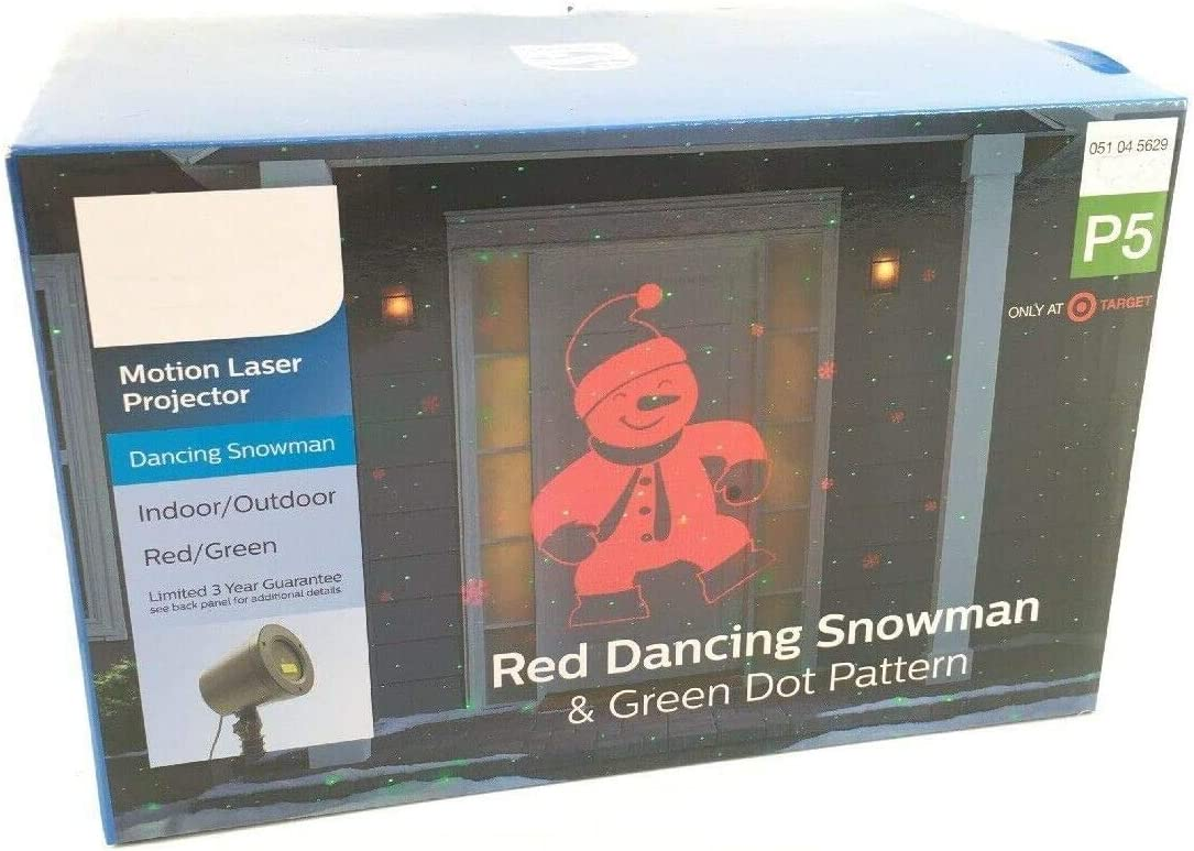 Motion Projector Max 58% Import OFF - Red Dancing Pattern Green Santa and Dot