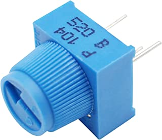 100K Ohm Trimpot Breadboard Trim Potentiometer P104 With Knob For Arduino (Pack of 5)