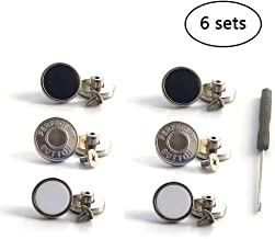 3 Styles 6 Sets Nailless Removable Metal Button Replacement No Sewing - Easy to Disassemble and Reusable, Adds an Inch to Any Pants Waist in Seconds! [Upgrad]