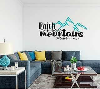 Faith Can Move Mountains Bible Verse - Wall Decal - 38