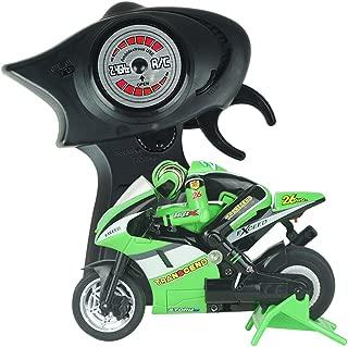 Braceus Mini RC Motorcycle High Speed Radio Controlled 2.4GHz Motorbike Children Toy (Green)
