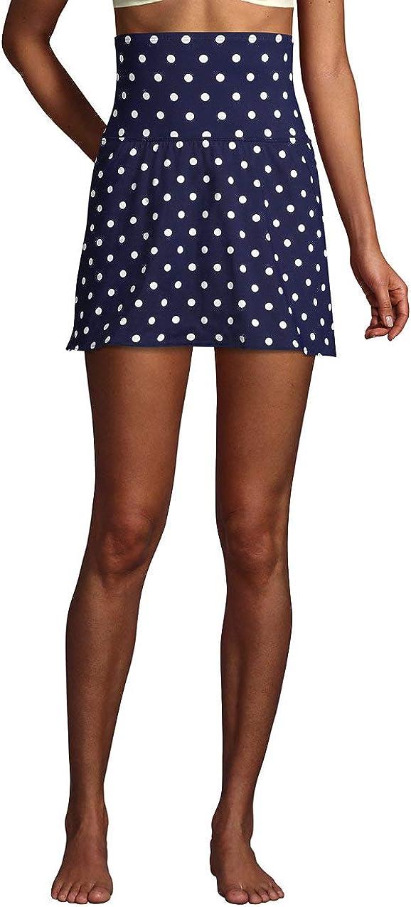 Lands' End Women's Tummy Control Ultra High Waisted Modest Swim Skirt Swim Bottoms