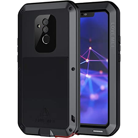 seacosmo Coque Huawei Mate 20 Lite Antichoc Heavy Duty Metal Etui [avec Verre Trempé] Full Body 360 Protection [Anti-Rayures] Case Antipoussière Armor ...