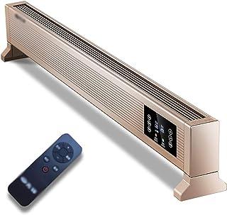 DIOE Calentador de Calentamiento rápido, Cuerpo de aleación de Aluminio, Calentador eléctrico con Control Remoto, apaga automáticamente la Pantalla, Dormitorio/Oficina/Sala de Estar, Dorado