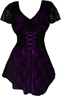Dare to Wear Sweetheart Corset Top: Romantic Victorian Gothic Women's Lace Chemise for Everyday Halloween Cosplay Festivals