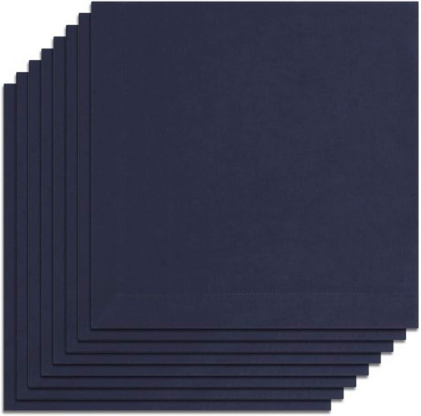 100/% Cotton Set of 8 KAF Home Buffet Napkins in Navy 19 by 19 Machine Washable