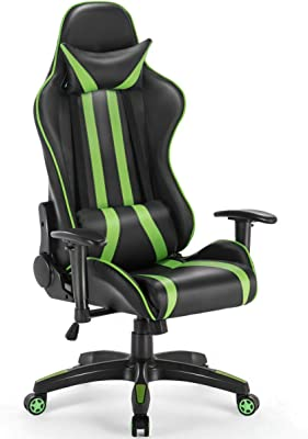 Amazon.com: Drift dr400bg Gaming Chair – Black and Green ...