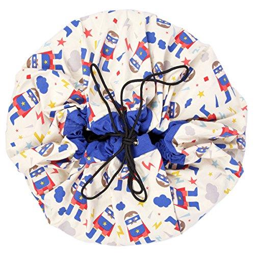 Play and go 47.0014 Caisse de Jouet et de Stockage – Boîtes de Jouets et de Stockage (Bleu, Rouge, Blanc, Coton)