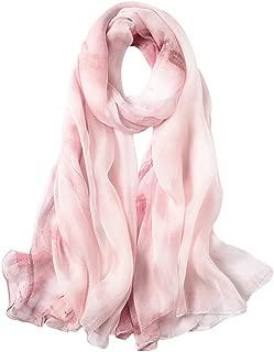 Womens 100% Mulberry Silk Head Scarf For Hair Ladies Silk Floral Head Scarfs