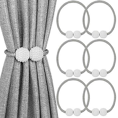 Melaluxe 6 Pack Magnetic Curtain Tiebacks, Decorative Curt...