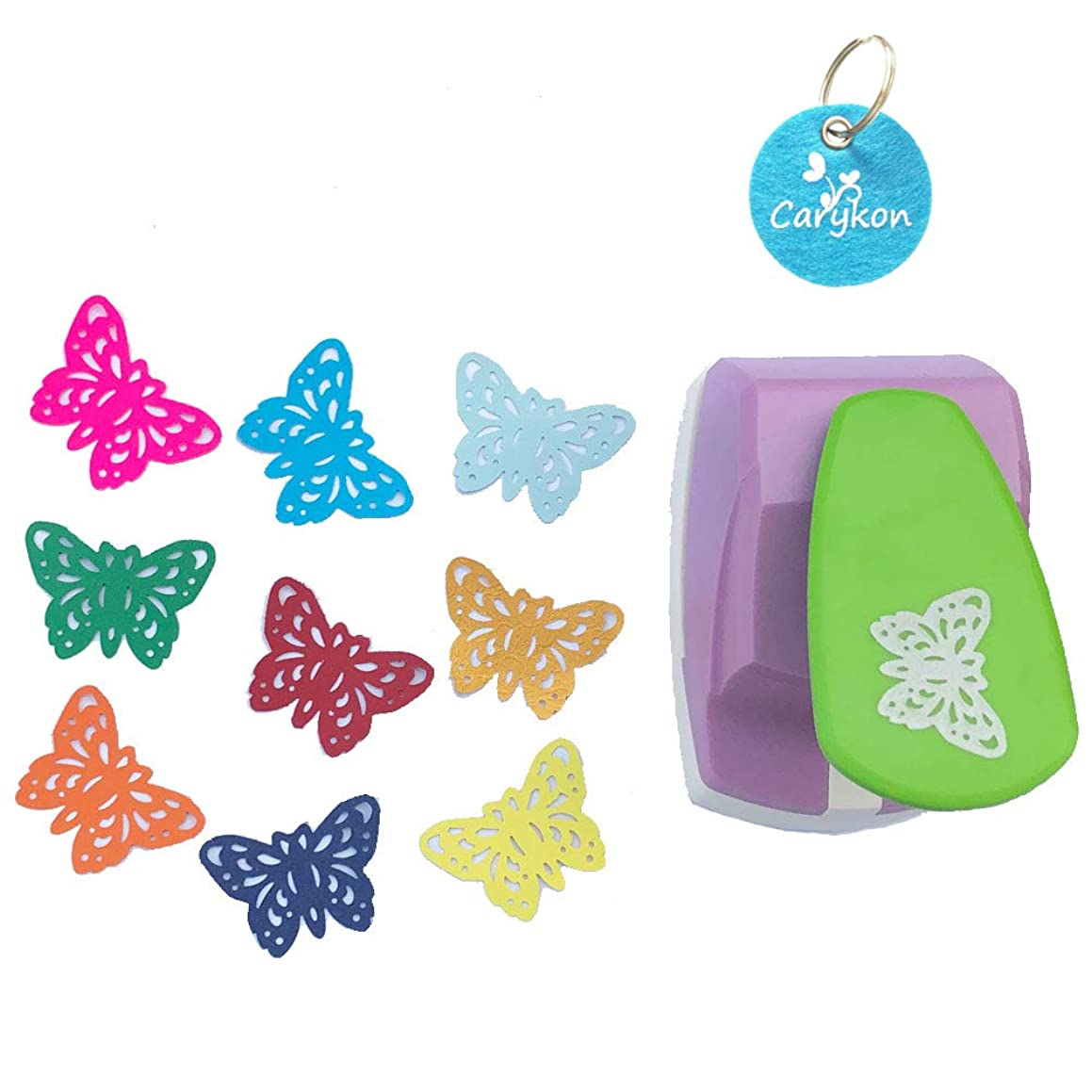 Carykon 2 Inch Lever Craft Punch Paper Punches Engraving Hole Punch (Butterfly-Gorgeous)