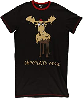 Chocolate Moose Women's Animal Pajama Nightshirt by LazyOne | Warm Cabin Nightshirt (X-Large)