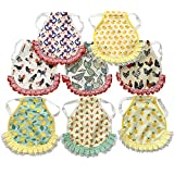 Gocavo 8PCS Saddle for Chicken,Chicken Apron for Hen Chicken,Chicken Jacket Straps Feather Fixer,Protector for Poultry Back Wing,with Cute Summer Fruit funny Pattern