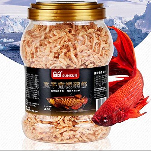 Jacksuper 3500ml Fish Food Aquarium Pond Fish Food Arowana Food Floating Shrimp Freeze Dried Krill Carnivore Koi Tropical Cichlid Turtle (3500ml)