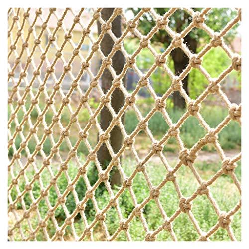WWWANG Hanf-Seil Sicherheitsnetz Geländer Zaun Mesh-Schutznetz Innendeckendekoration Net Balkon Treppenschutznetz hängende Kleidung Foto Wall Cabin Retro (Size : 2x3m)