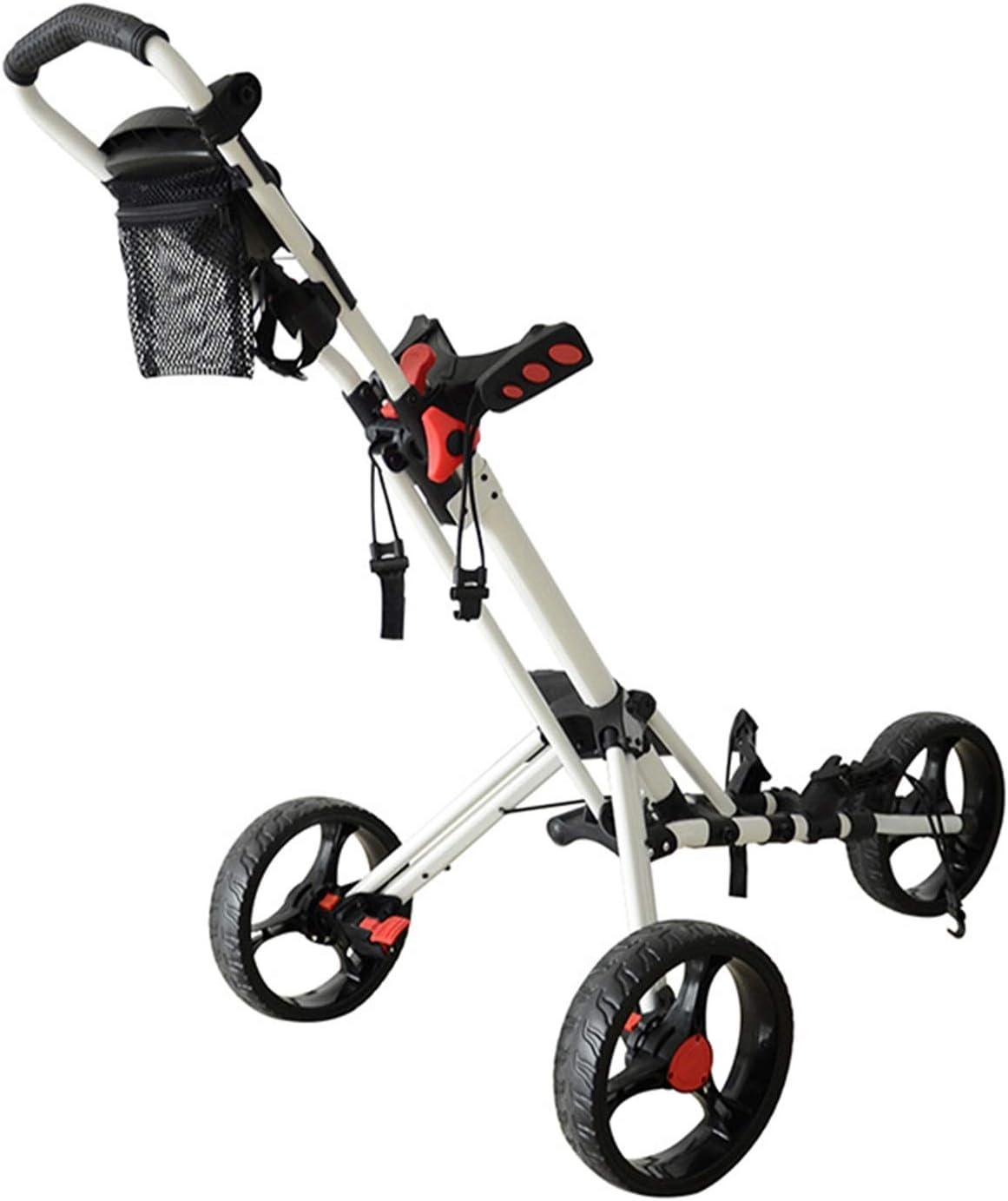 Golf Push Cart 3 Wheels 55% OFF Lightweight Club Folding Store Pull