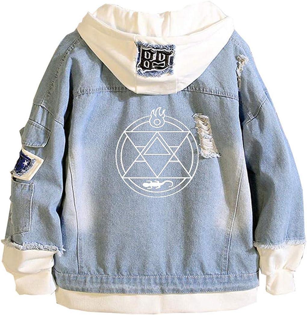 Gumstyle Anime Fullmetal Alchemist Houston Mall Denim Cos Hoodie San Diego Mall Adult Jacket