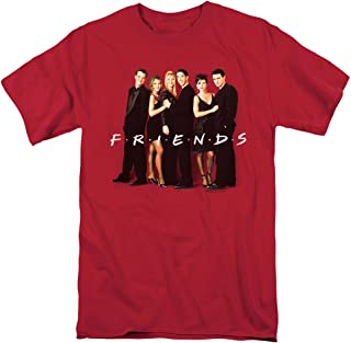 Friends TV Show Cast in Black T Shirt & Stickers