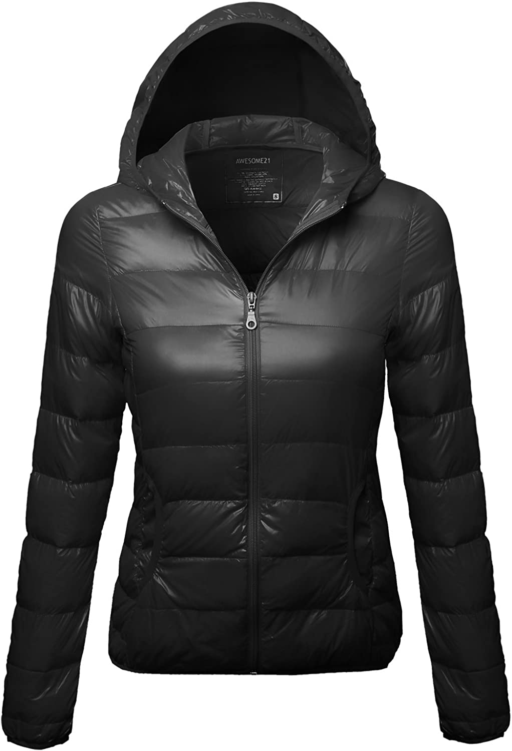Awesome21 Women's The Lightweight Puffer Hood Jacket