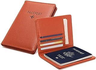 PALMFOX Portefeuille de Voyage en Cuir Porte-Passeport Cover RFID Blocking Case Étui pour Cartes en Cuir, étui pour Organi...