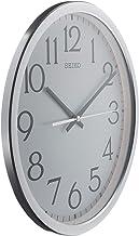 ساعة حائط بعقارب بلون فضي ومينا من الألومنيوم من سيكو - Qxa711sls