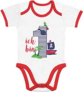 Shirtgeil 1 Jahr Geburtstag Junge Piraten Geschenk Baby Body Kurzarm-Body
