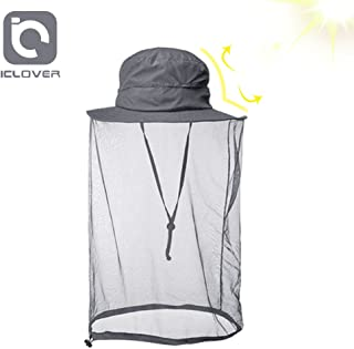 a7125560 IC ICLOVER Mosquito Head Net Hat Quick Dry Hiking Sun Hat Safari Hat Bucket  Hat with