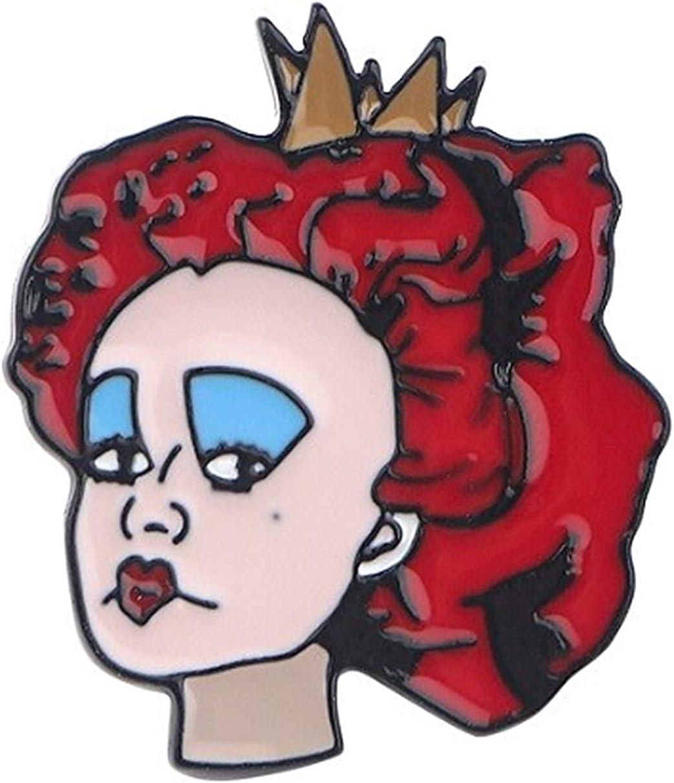EC Trading Alice in Wonderland Queen of Hearts 1 Inch Tall Metal Enamel Pin