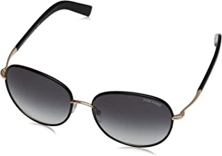 FT0498 01B Shiny Black Georgia Round Sunglasses Lens Category 2 Size 5
