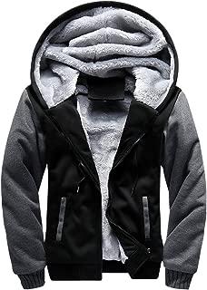 Men's Casual Hooed Hoodies Thick Wool Warm Winter Jacket Coats