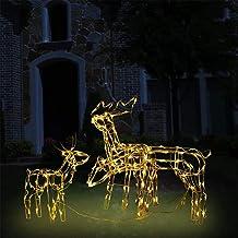 LED Fenster-Silhouette Rentier kaltweiß leuchtend Fensterbild Weihnachten