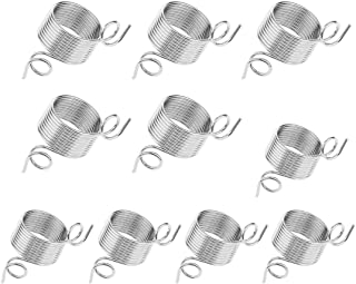 10 Pieces Metal Yarn Guide Finger Holder Knitting Thimble for Knitting Crochet Crafts Accessories Tool, 2 Size