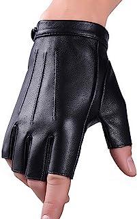 Fingerless Gloves Faux Polyurethane Leather Gloves Touchscreen Texting Dress Driving Moto Glove for Men Women Teens