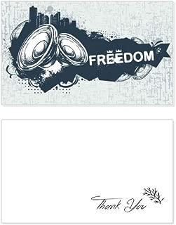 Graffiti Street Culture Hip-Hop Speaker Thank You Card Birthday Wedding Business Message Set