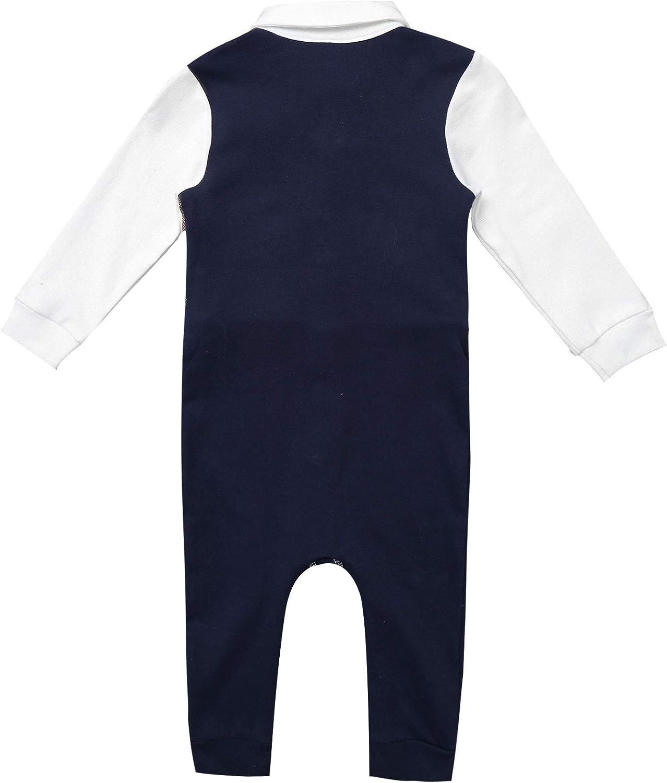TiaoBug Baby Jungen Langarm Strampler Body Anzug Weste Kentkragen Hemd mit Fliege Lange Hose Pants Gentleman Kost/üm Sakko Smokings Taufe Party