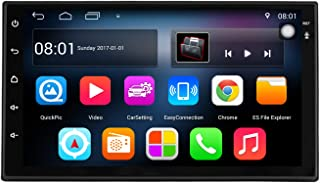 KKXXX S6 Android 7.1 2 DIN Car Stereo 1 GB de RAM 16 GB ROM Quad Core GPS de navegación Radio Auto AM FM RDS Mirror Link Control de Volante BT Manos Libres Call Music Video 1080P HD Touch Screen
