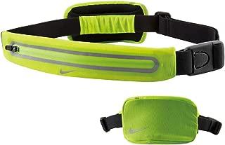 Lean 2 Pocket Waistpack (One Size Fits Most, Volt/Black) Running Storage Pouch Swoosh Logo