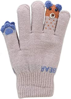 Kacota Kids Winter Gloves Knitted Fleece Lined Gloves for Boys Girls 4-10 Years
