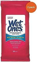 WET ONES Antibacterial Hand Wipes, Fresh Scent 20 ea (Pack of 2)