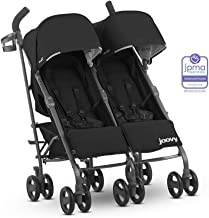JOOVY Twin Groove Ultralight Umbrella Stroller, Black