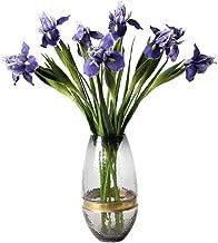 MangoRun Artificial Iris Flowers Bouquet Ireland Silk Flowers for Home Wedding Party Decoration (Purple)