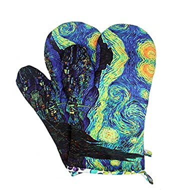 MAGICAL DESIGN Funny Oven Mitts, with the Heat Resistance and Flexibility of Cotton, Recycled Cotton Infill, Terrycloth Lining, 480 F Heat Resistant Pair