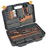 VonHaus 246pc Drill Bit Set & Carry Case for Metal, Masonry, Wood & Plastics Includes Titanium HSS Drill Bits