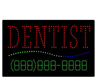 LED Dentist Open Light Sign Super Bright Electric Advertising Display Board for Dental Care Clinic Cosmetic Dentistry DDS Business Shop Store Window Bedroom 31 x 17 inches