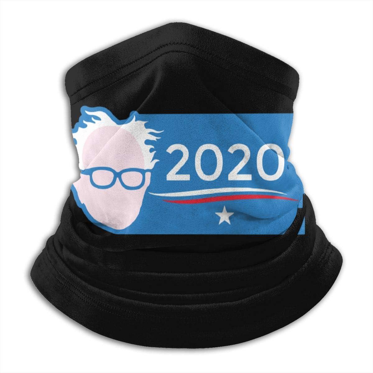 Bernie Sanders 2020 Black Multi-function Neck Warmer Gaiter Polyester Neck Warmer Windproof Winter Neck Gaiter Cold Weather Scarf For Men Women