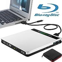 External Blu Ray Drive NOLYTH 5 in 1 USB 3.0/Type-C Blue Ray Burner CD/DVD/BD Player..
