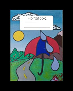 NoteBook: Rain Raindrop Ride Notebook for Kids. Girls. Boys and Adults Perfect for doodle and writing Notes - Winter Rain ...