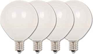 Westinghouse Lighting 4513120 60W Equivalent G16-1/2 Dimmable Soft White LED Light Bulb with Candelabra, Base Four Pack